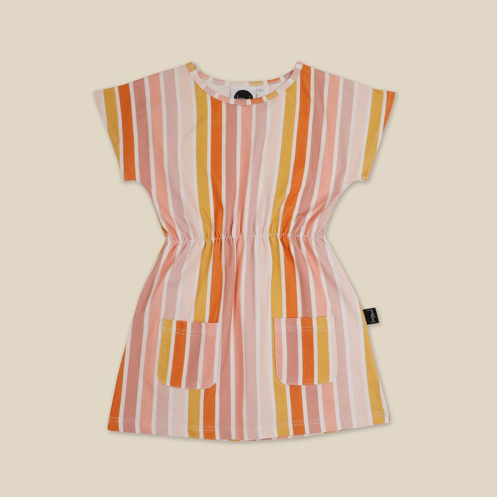 Beach Stripe Pocket Dress