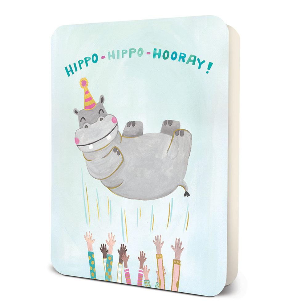 Hippo Hippo Horray Greeting Card