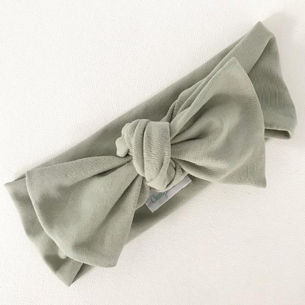Sage Bow Top Knot