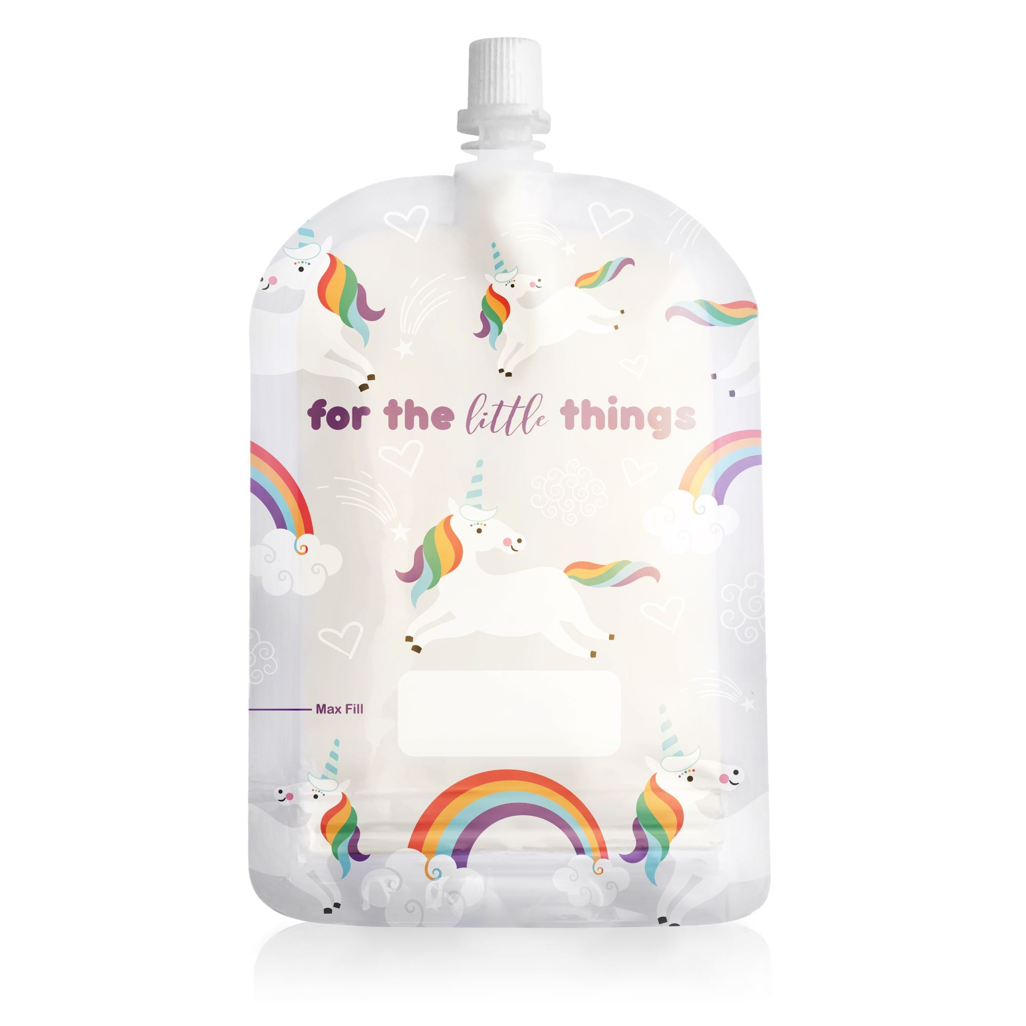 Reusable Food Pouch - Unicorn 150ml (10 Pack)