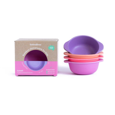 Bamboo Snack Bowls (Sunset)