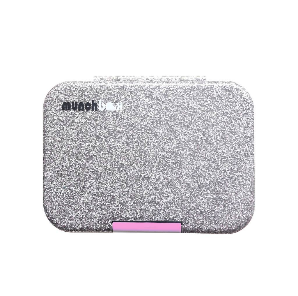 Munchi Sparkle Snack (Silver/Pink Latch)