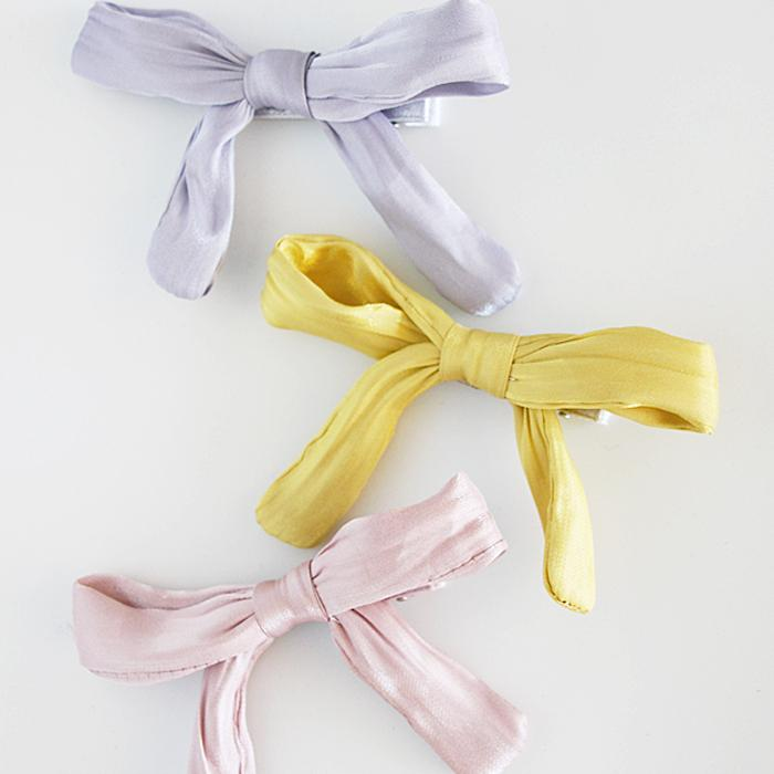Shimmer Bow Hair Clip (3 Colours)