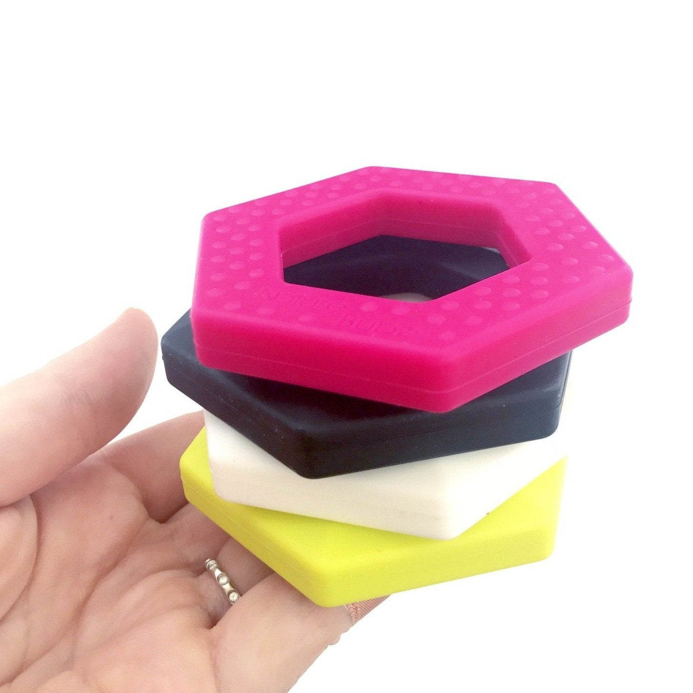 Hexagon Teether (8 Colours)