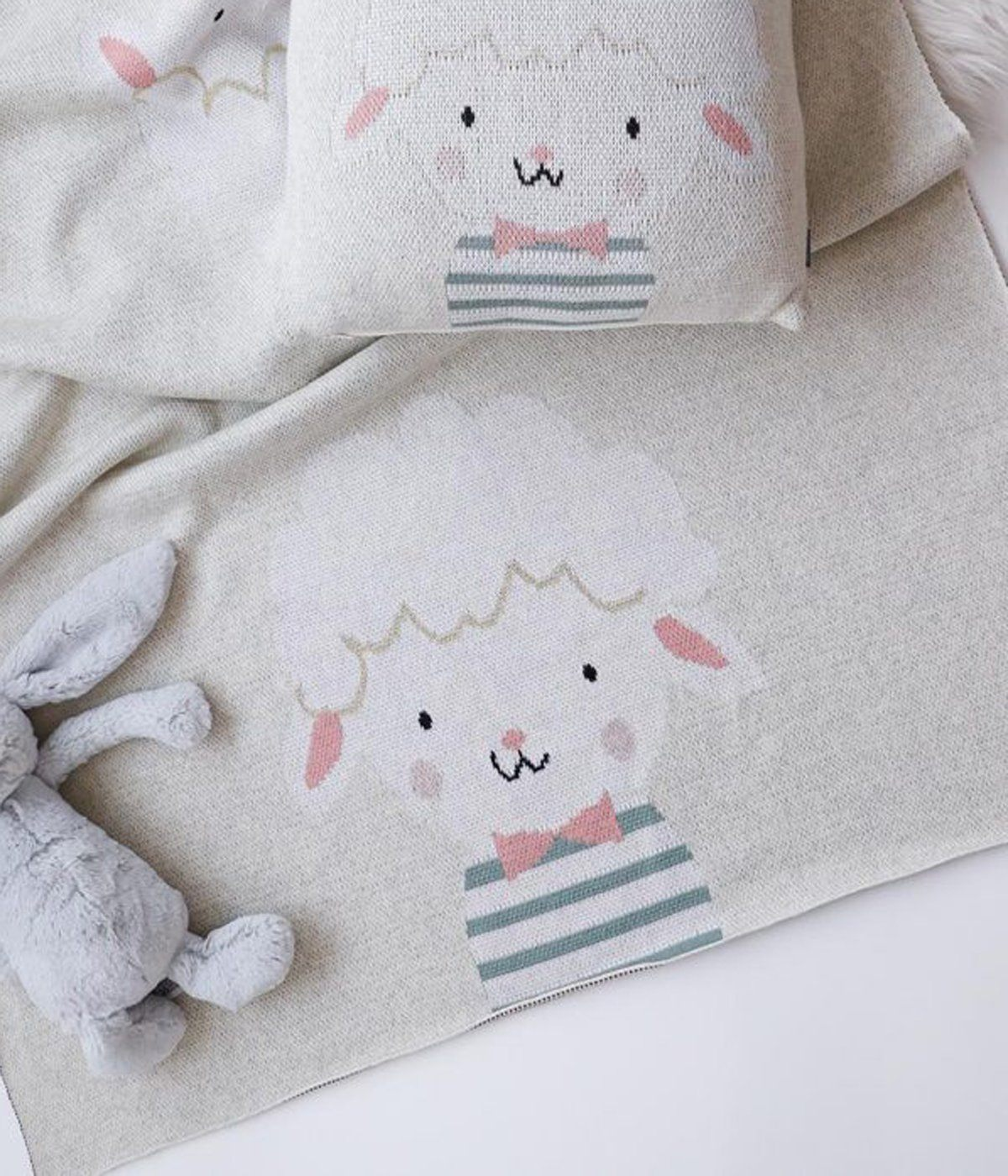 Curly Sheep Baby Blanket