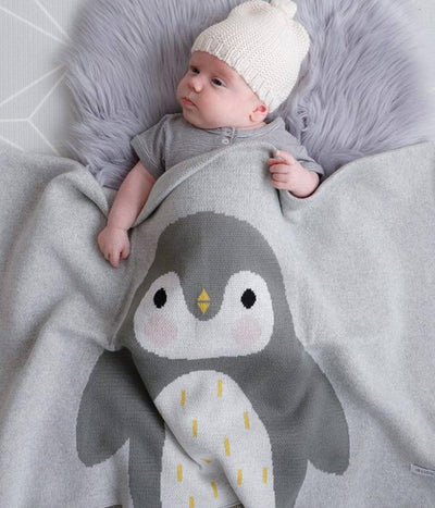Peter Penguin Baby Blanket