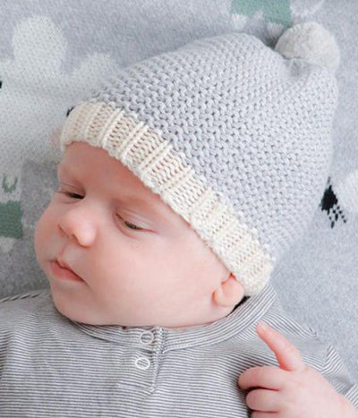 Mini Moss Baby Beanie (Grey)