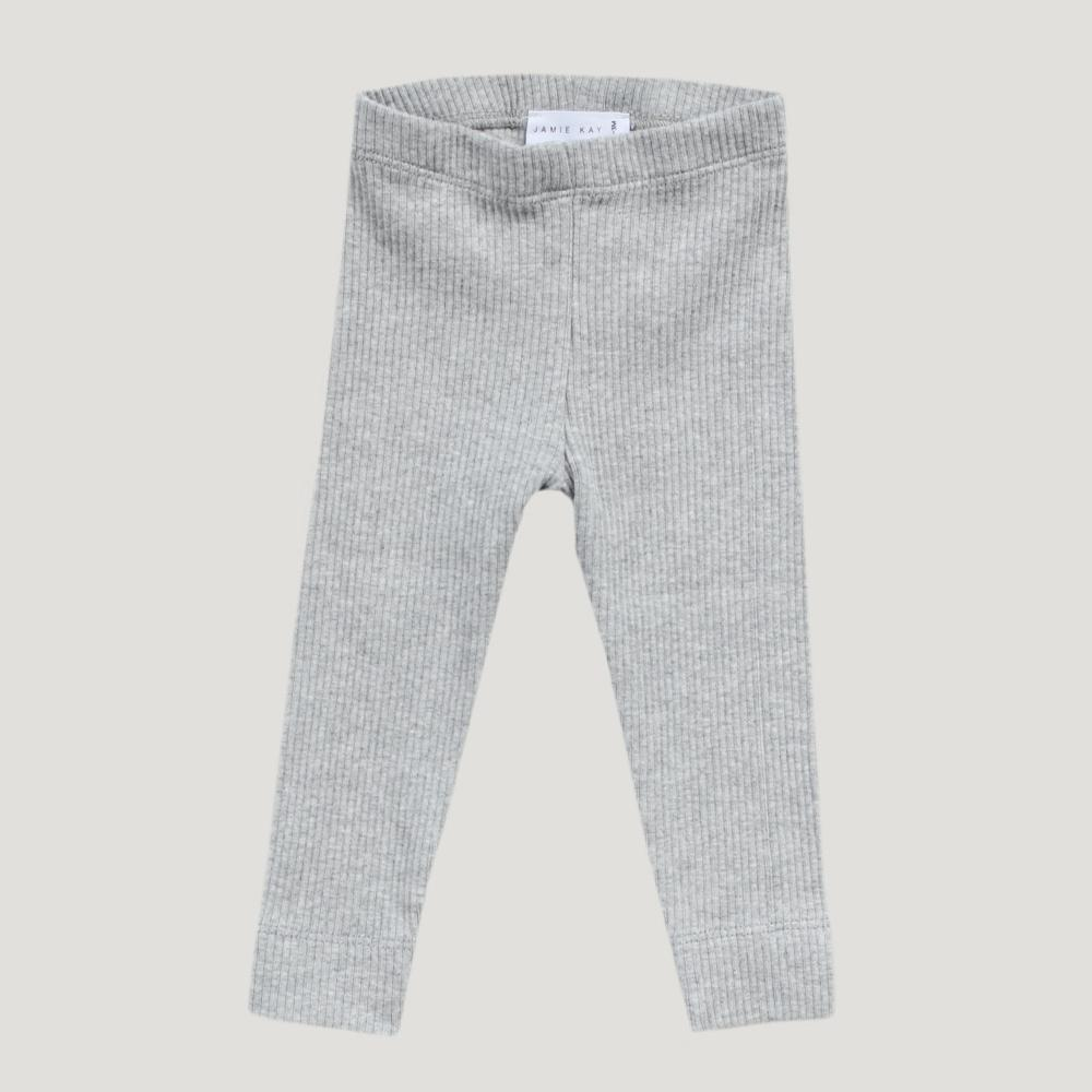 Organic Essential Leggings (Grey Marle)