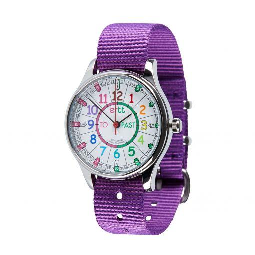 Waterproof Watch Purple Strap (Rainbow)