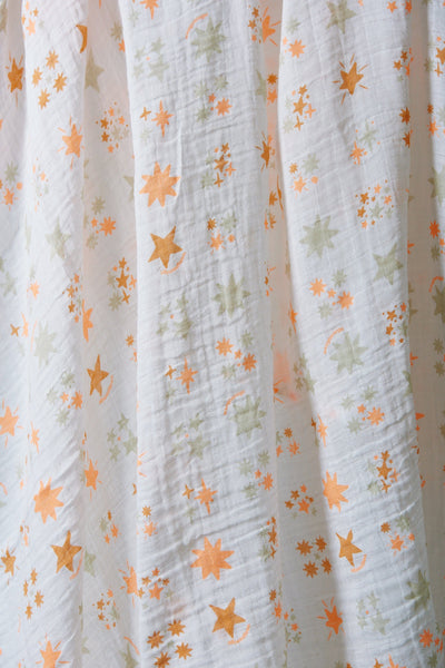 Muslin Swaddle (Twinkle Coral)