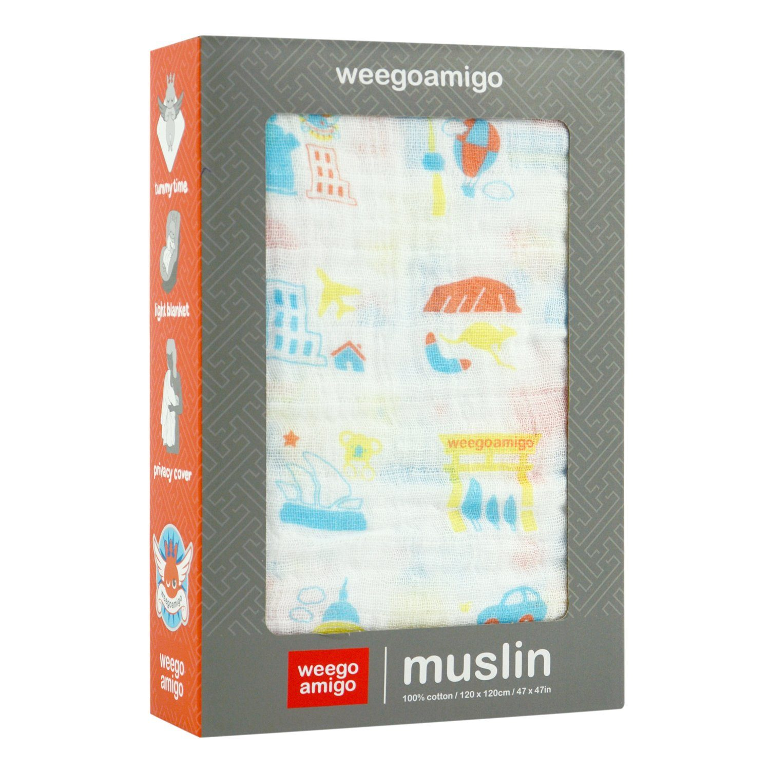 Muslin Swaddle (Cities)