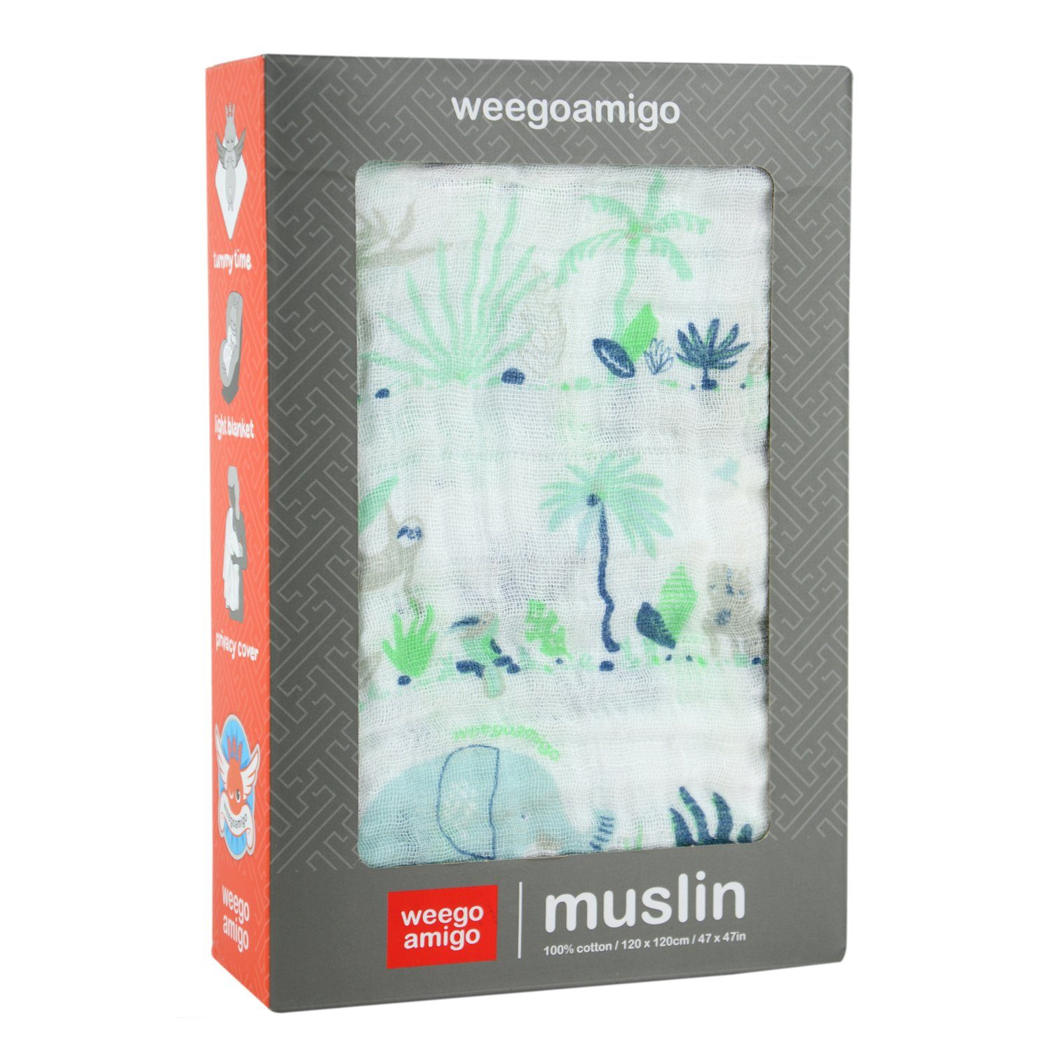 Muslin Swaddle (Jungle)
