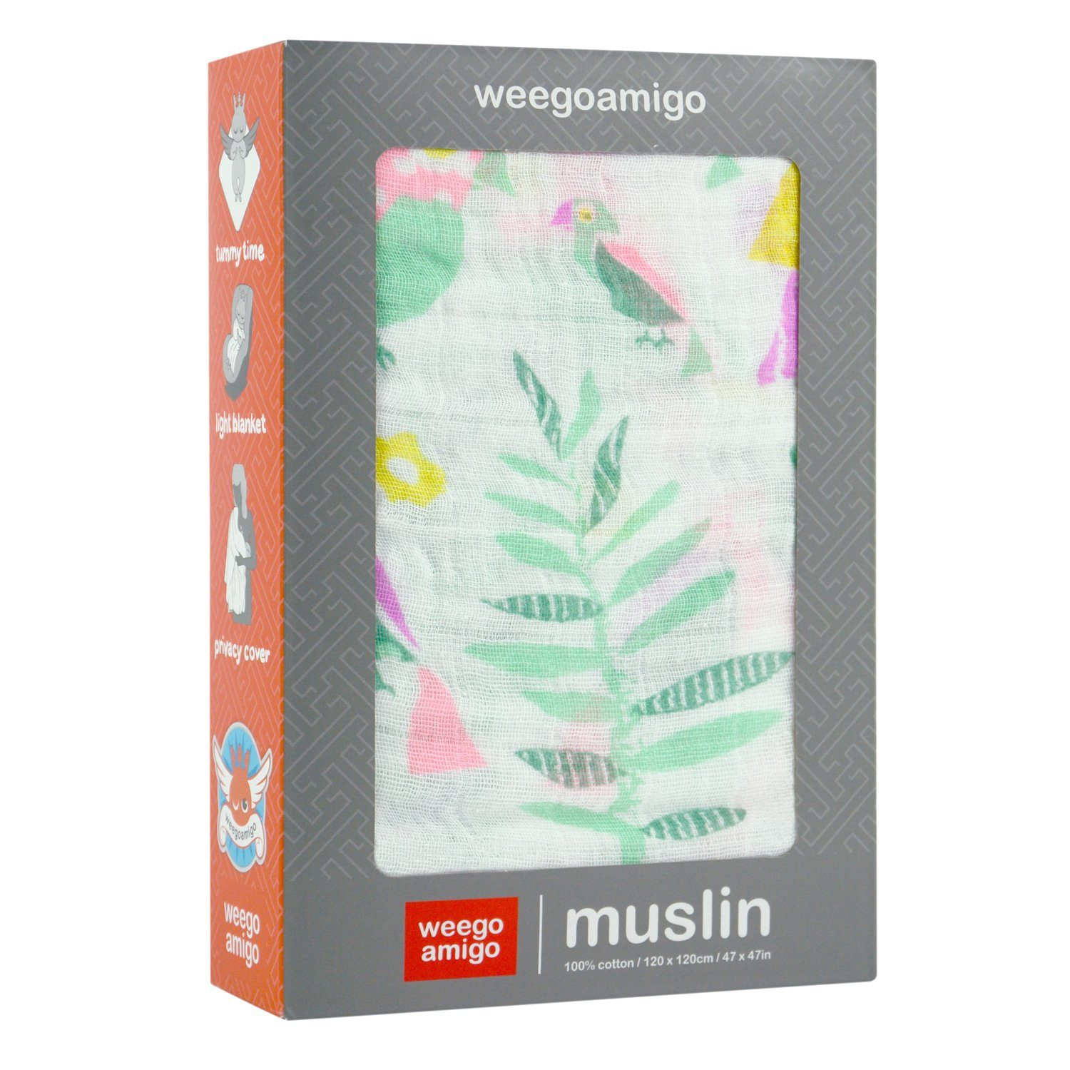 Muslin Swaddle (Tropical Bird)
