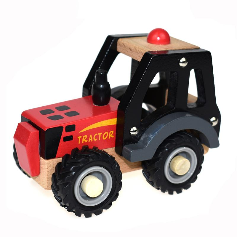 Wooden Tractor (Red)