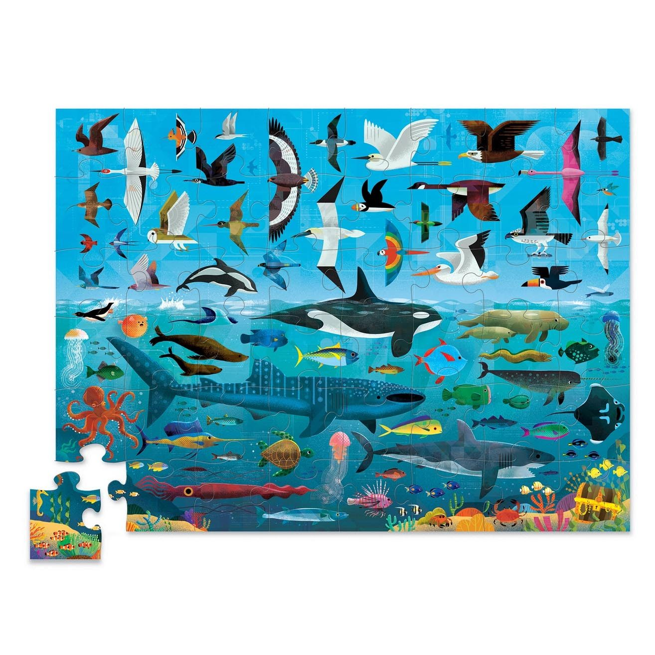 Above & Below Puzzle 48 piece (Sea & Sky)