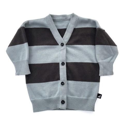 Grunge Stripe Cardigan (Blue)