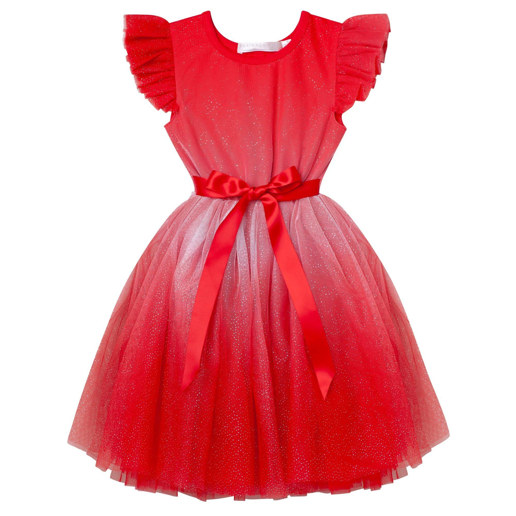Angel Sparkle SS Tutu Dress (Red)