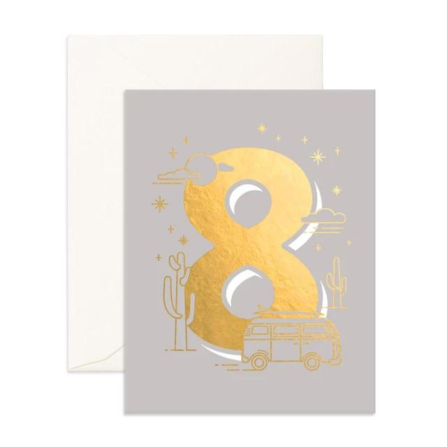 Number 8 Animals Greeting Card