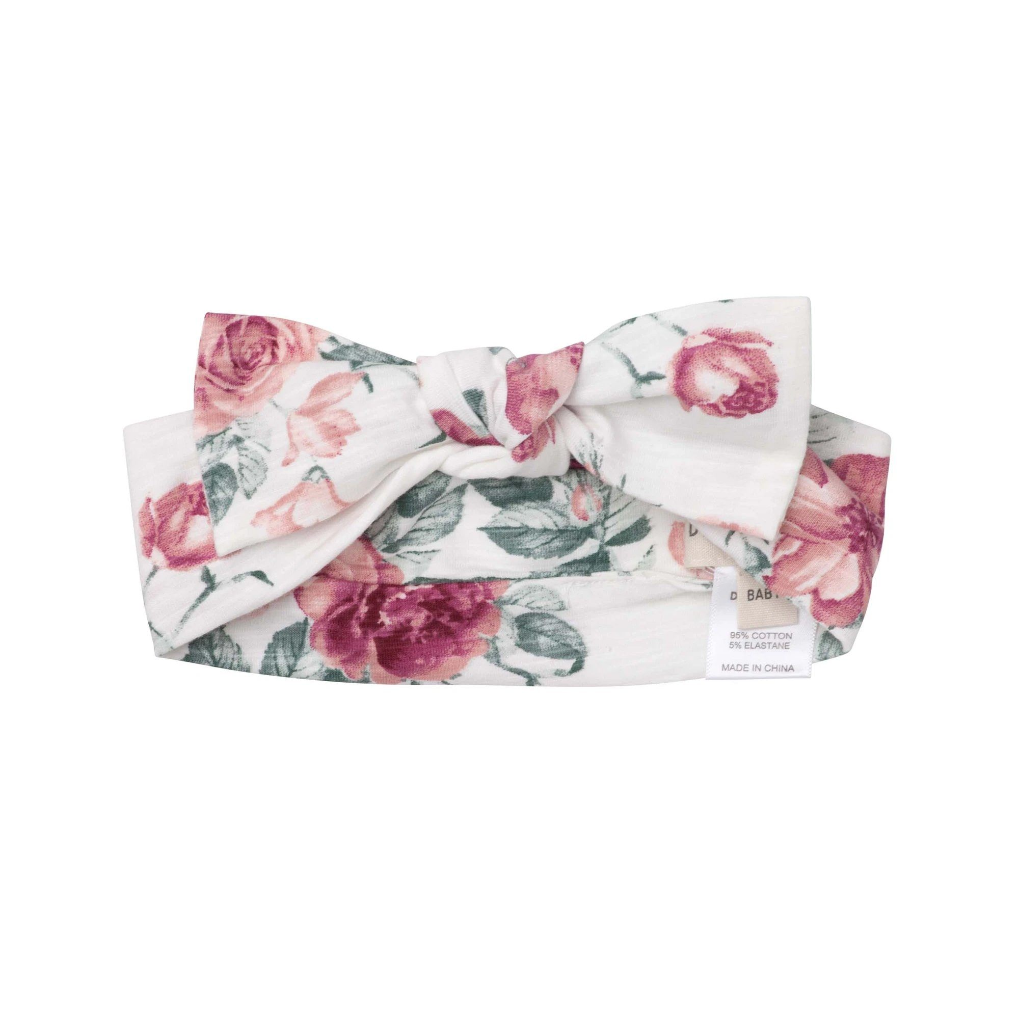 Audrey Floral Headband (Tea Rose)