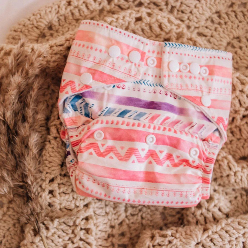 Aztec Pink Modern Cloth Nappy