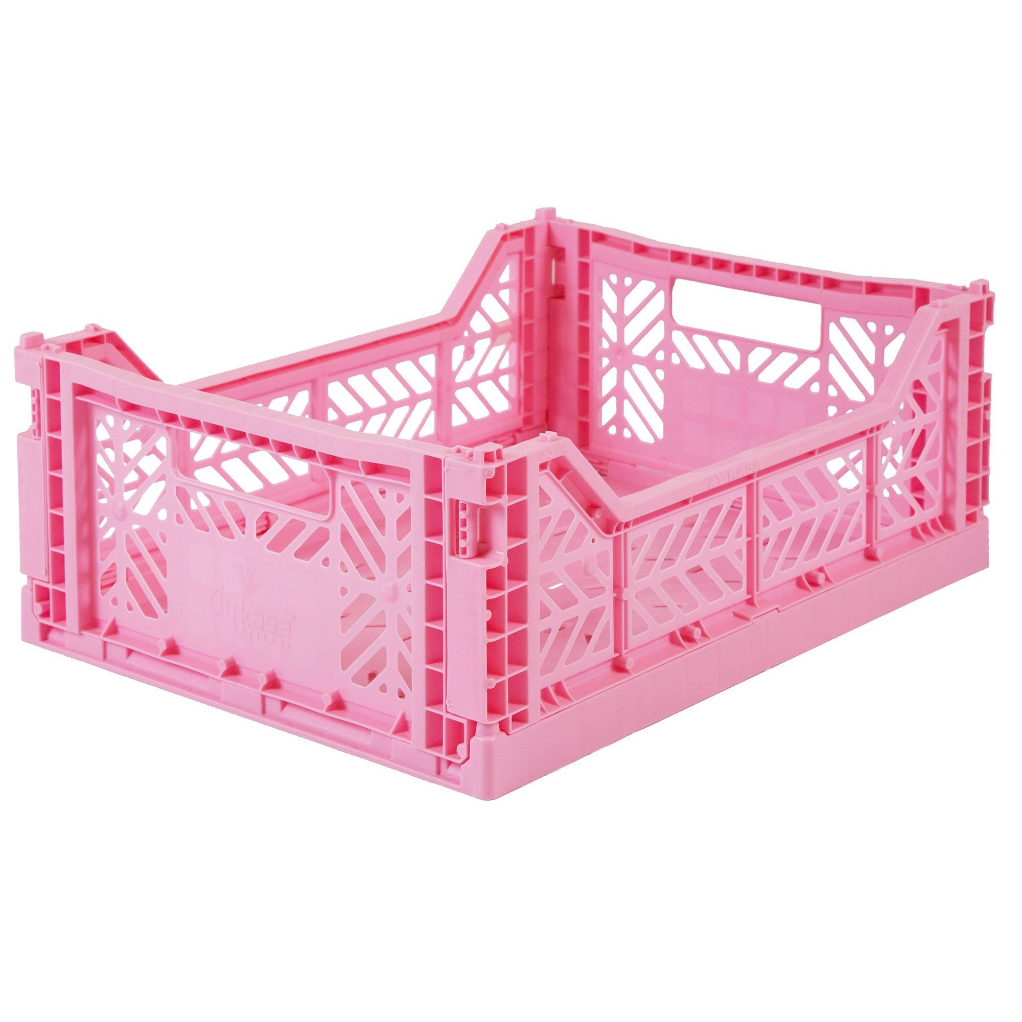Midi Folding Crate (Baby Pink)