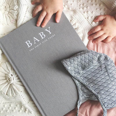 Baby Journal - Birth to 5 Years (Grey)