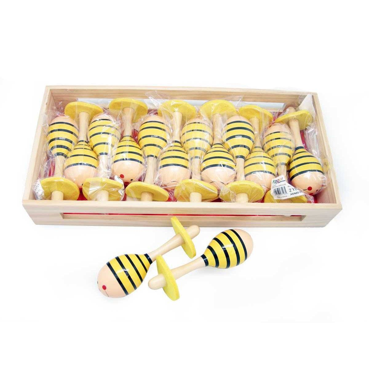 Mini Maraca (Yellow Bee)
