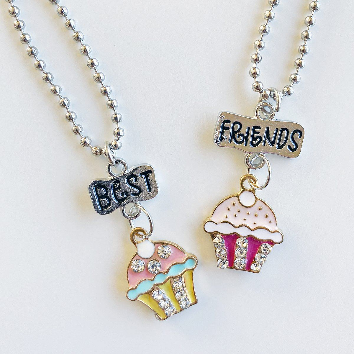 Sparkle Cupcake Best Friends Necklace