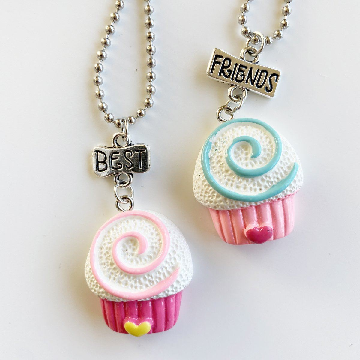 Jumbo Cupcake Best Friends Necklace
