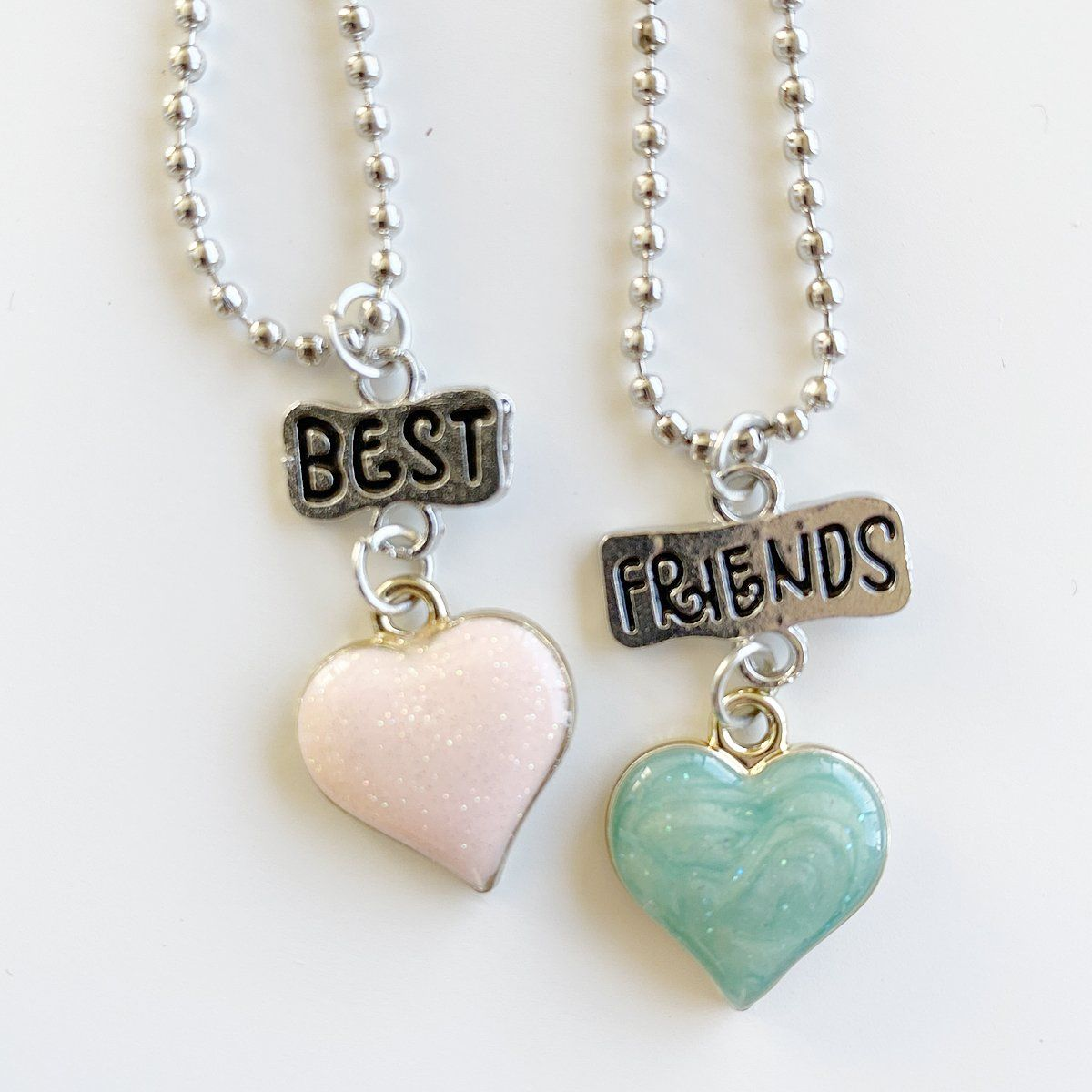Sparkle Heart Best Friends Necklace