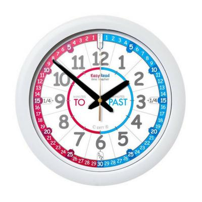 EasyRead Red/Blue Face Clock