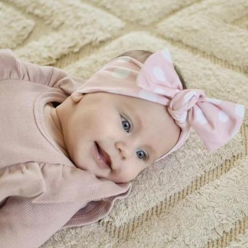 Blush Confetti Bow Knot Headband