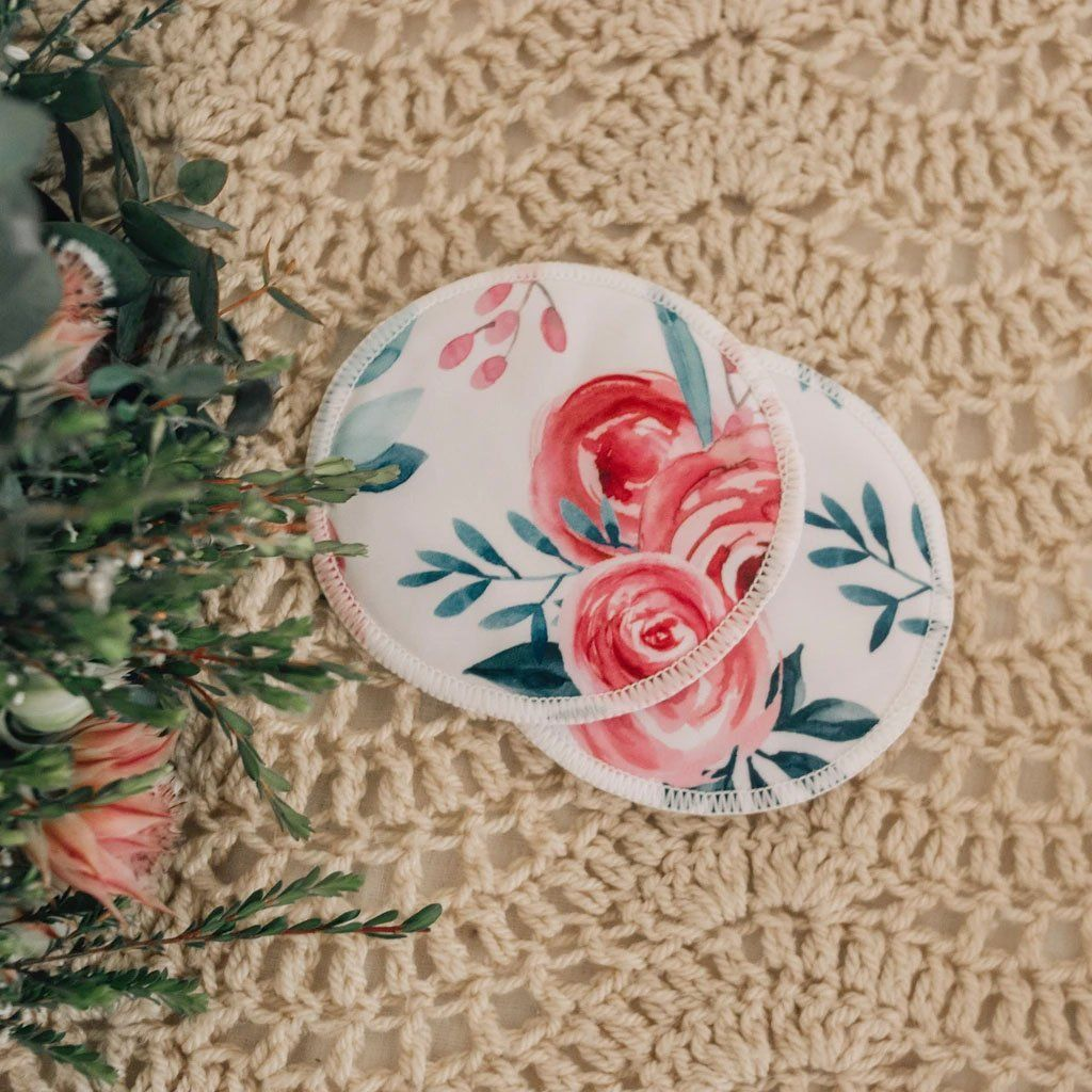 Reusable Breast Pads (Roses)