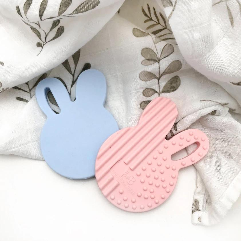 Bunny Silicone Teether (Pale Blue)