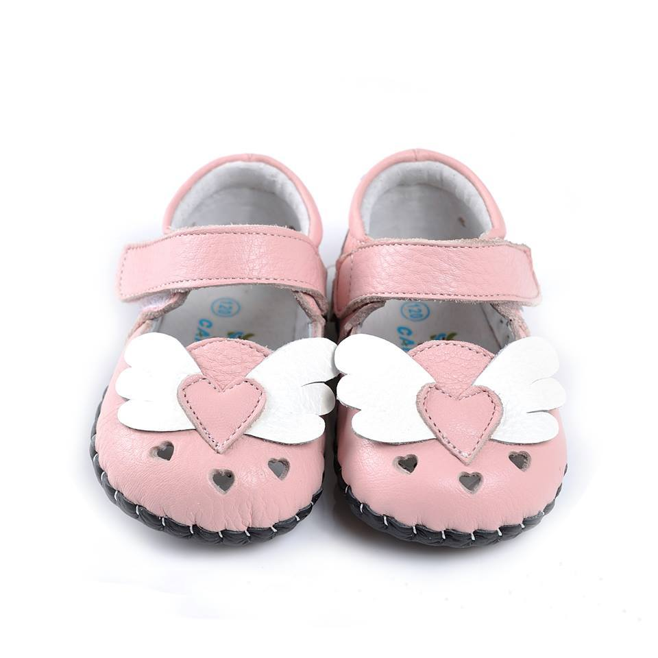 Flying Heart Mary Janes (Pink)