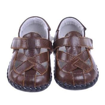 Cross Over Sandals (Brown)