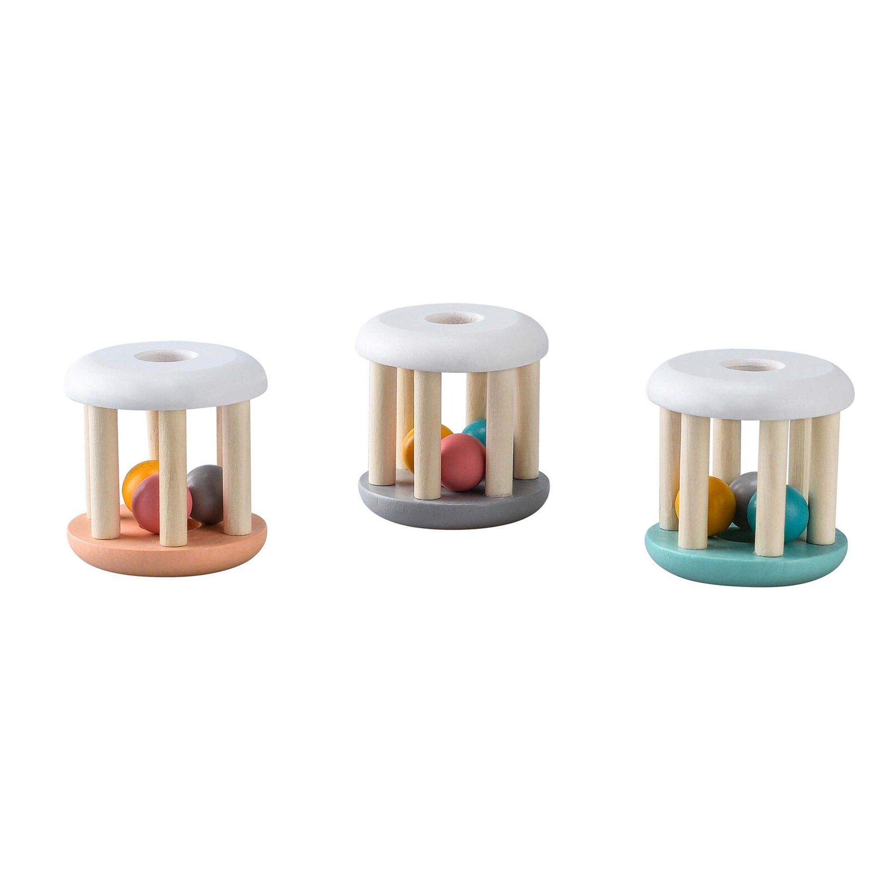 Pastel Wooden Rattle (3 Colours)