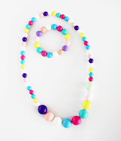 Candy Ball Necklace Set (Rainbow)