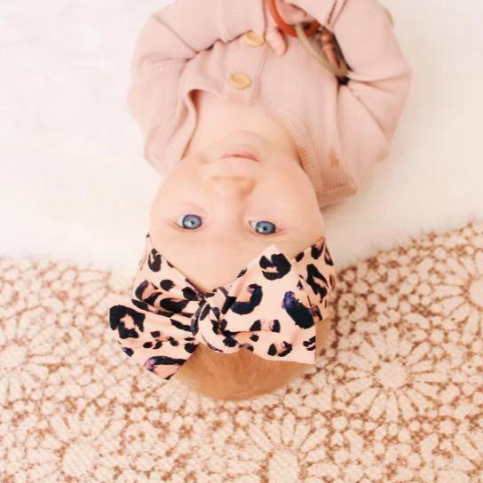 Blush Leopard Bow Knot