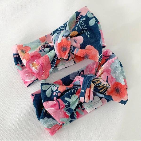 Poppy Navy Bow Knot