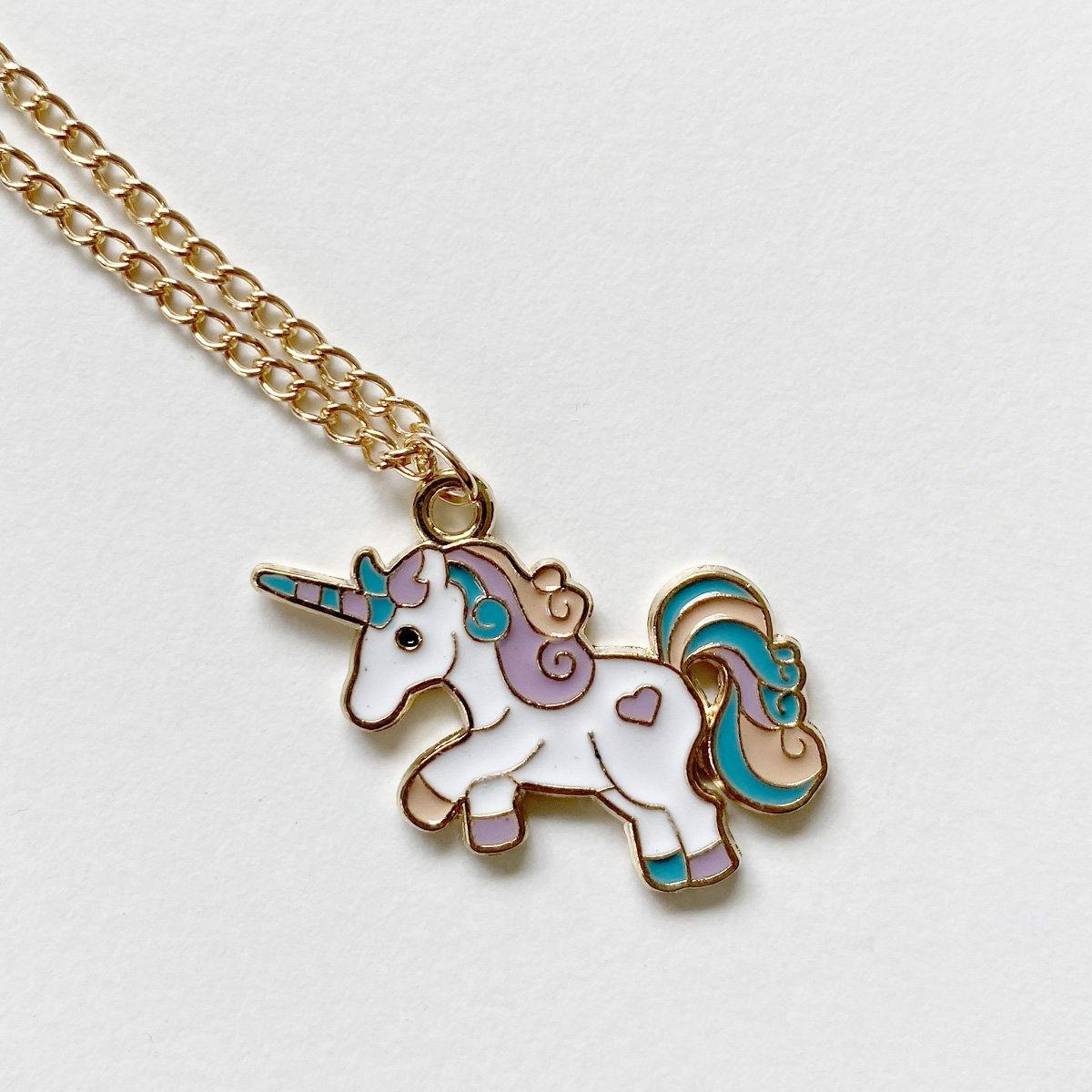Curly Unicorn Necklace