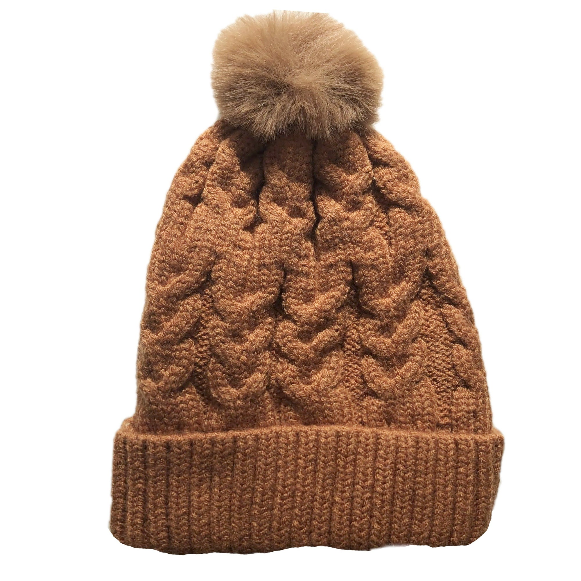 Single Pom Pom Beanie (Desert)