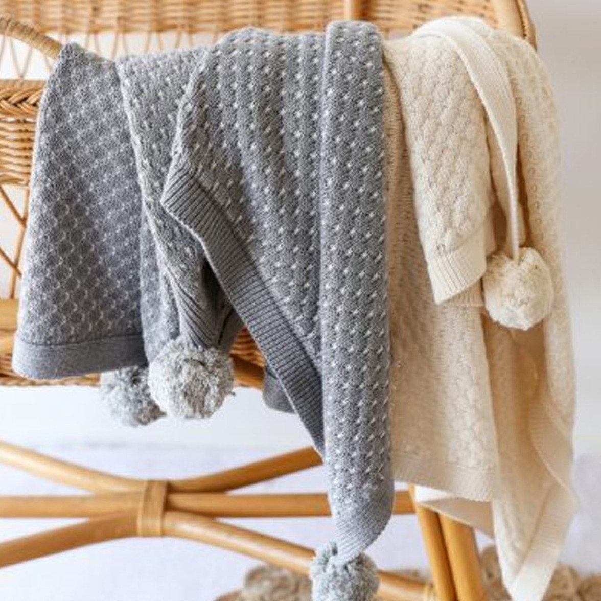 Milly Baby Blanket (Grey)