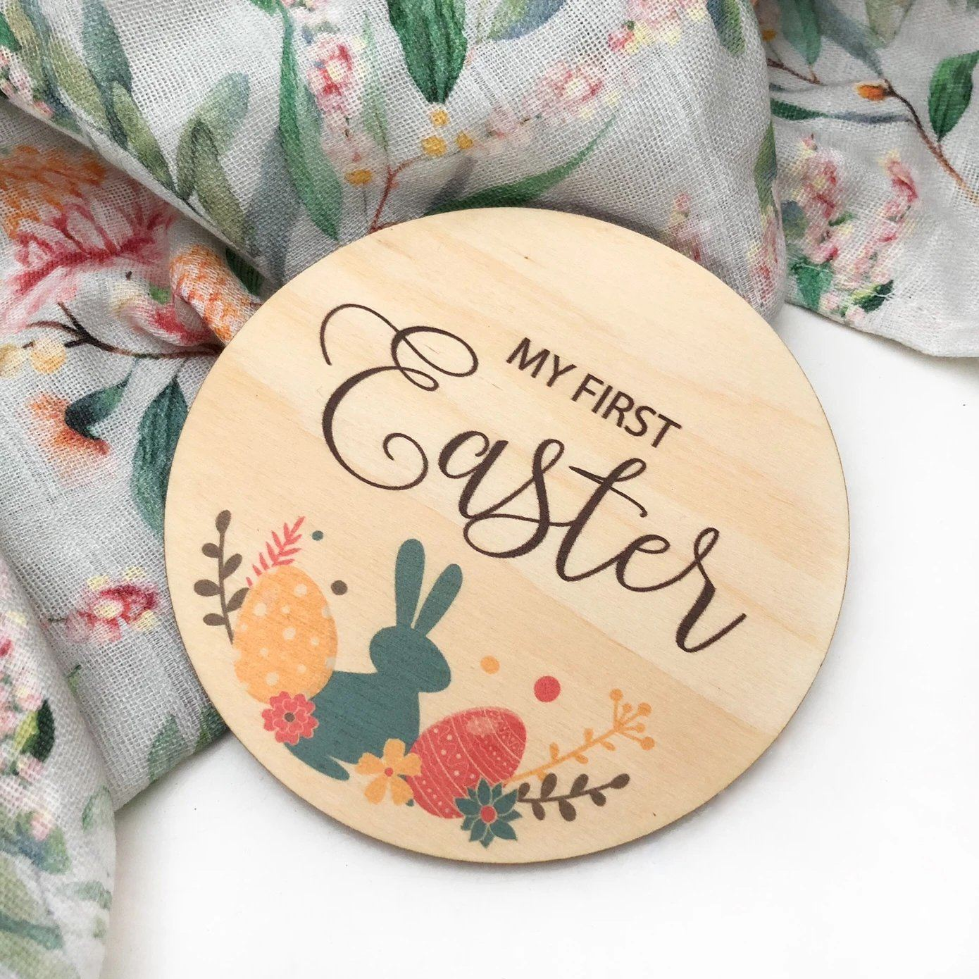 My First Easter Plaque (Bright Bunnies)