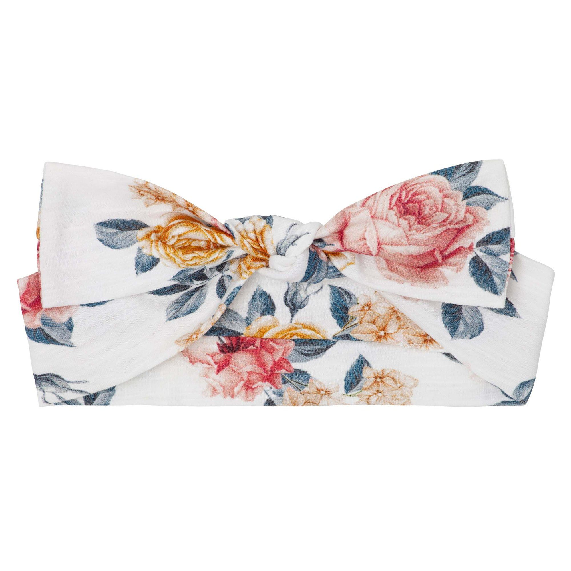 Florence Floral Headband (Pink/Gold)