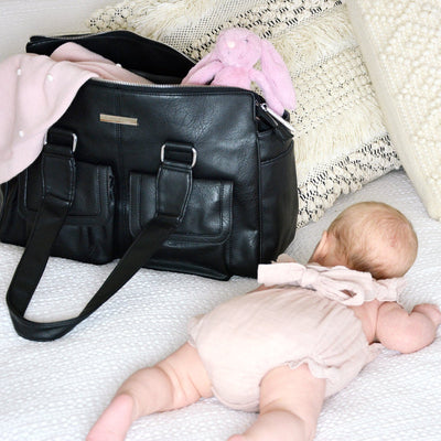 Denver Duffel Nappy Bag (Black)