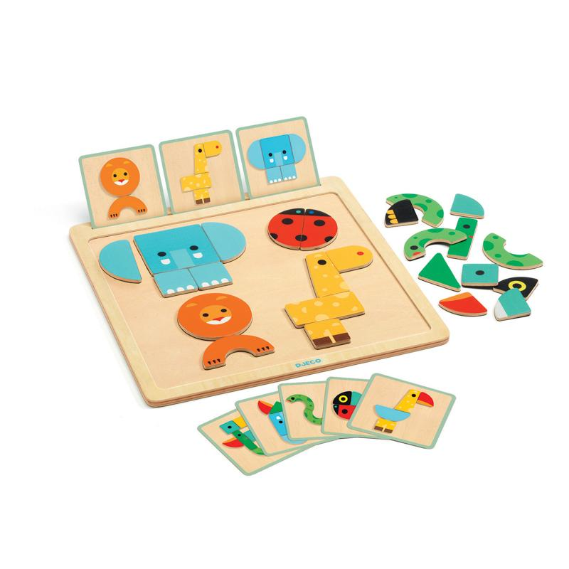 Geo Basic Wooden Board Puzzle