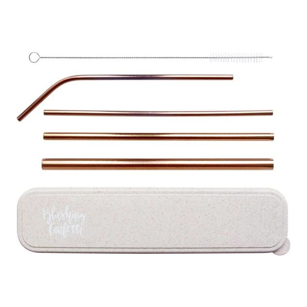 On the Go Straw Set (Rose Gold)