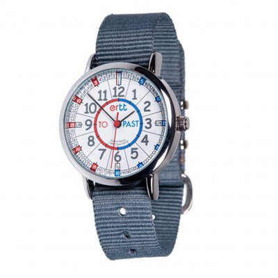 EasyRead Watch Grey Strap (Red/Blue)