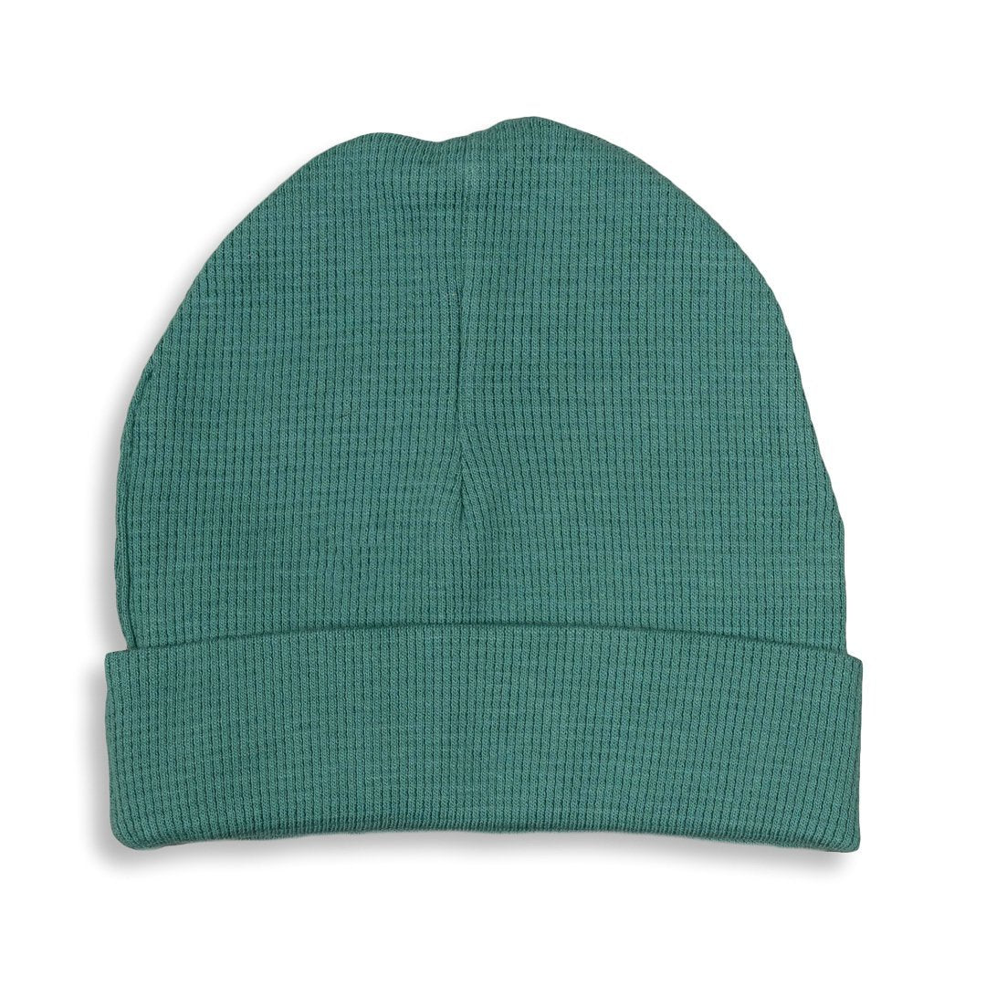 Spruce Green Waffle Hat